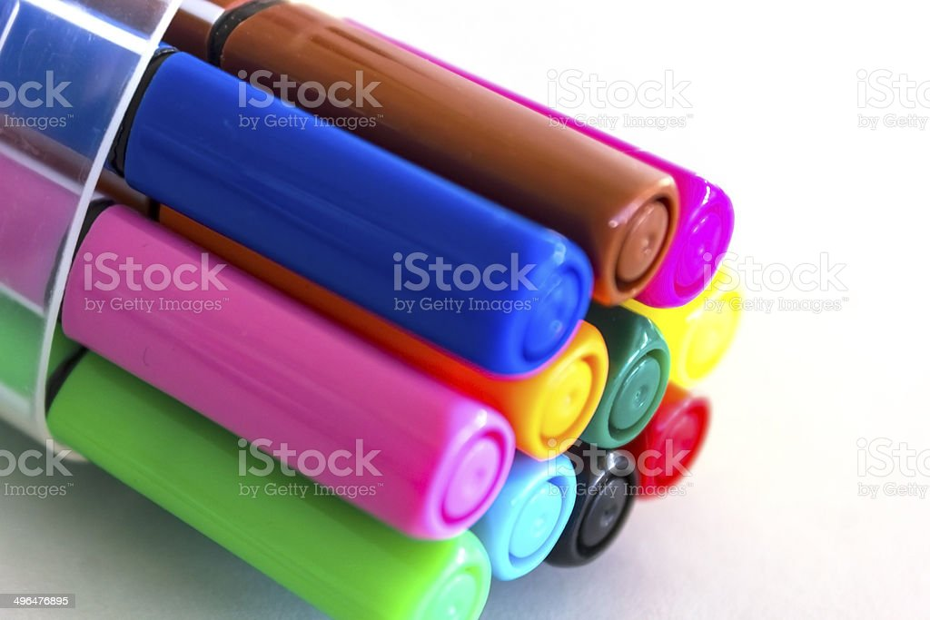 Magic color pens royalty-free stock photo