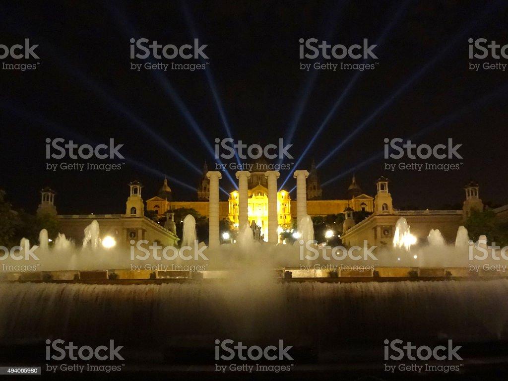 Magic Fountain Barcelona stock photo