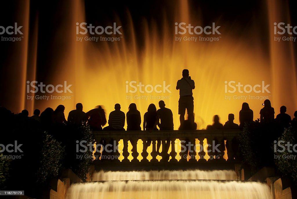 Magic Fountain in Barcelona, Spain royalty-free stock photo