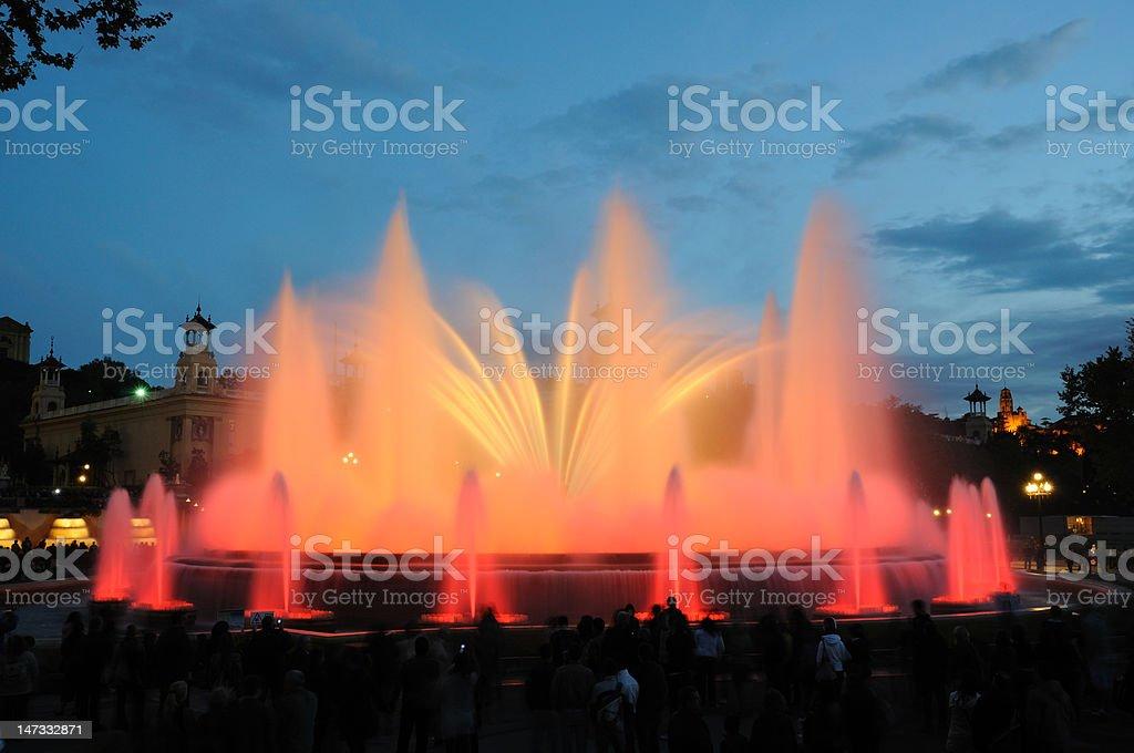 Magic Fountain in Barcelona Spain stock photo