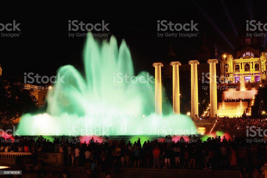Magic Fountain in Barcelona, Spain stock photo