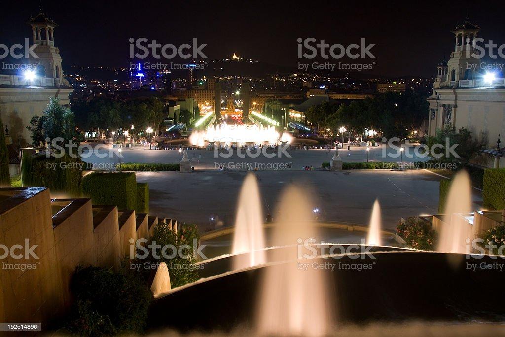 Magic Fountain  in Plaza Espana royalty-free stock photo