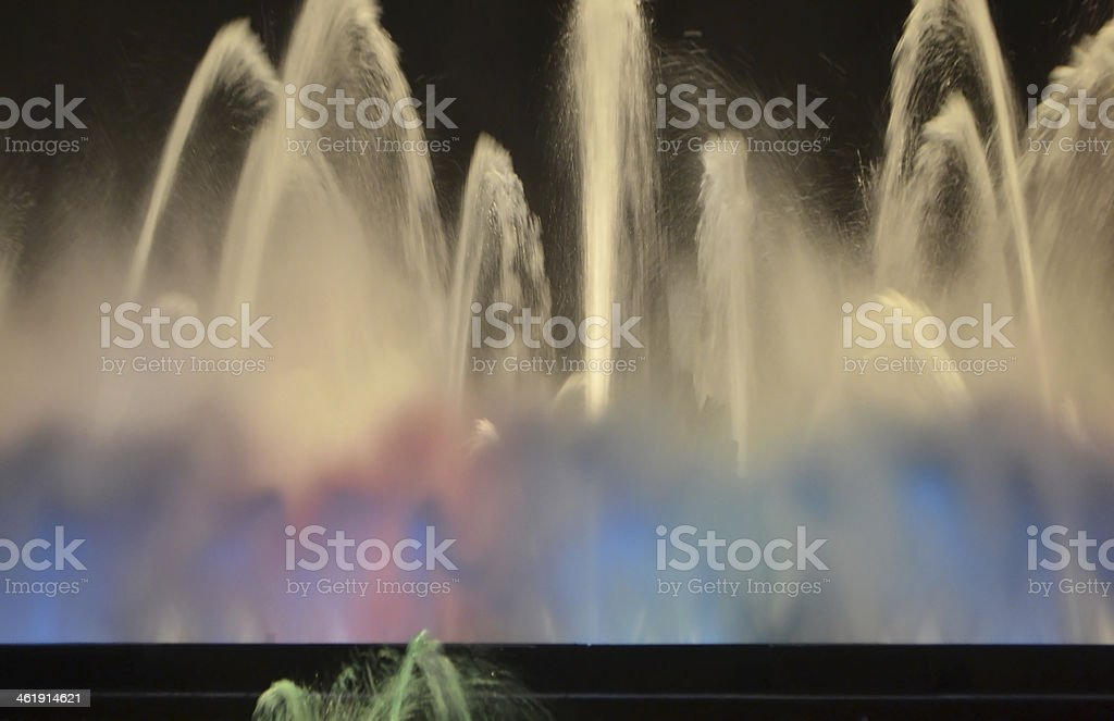 Magic fountain of Barcelona stock photo