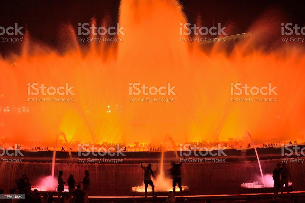 Magic Fountain of Montjuïc. stock photo