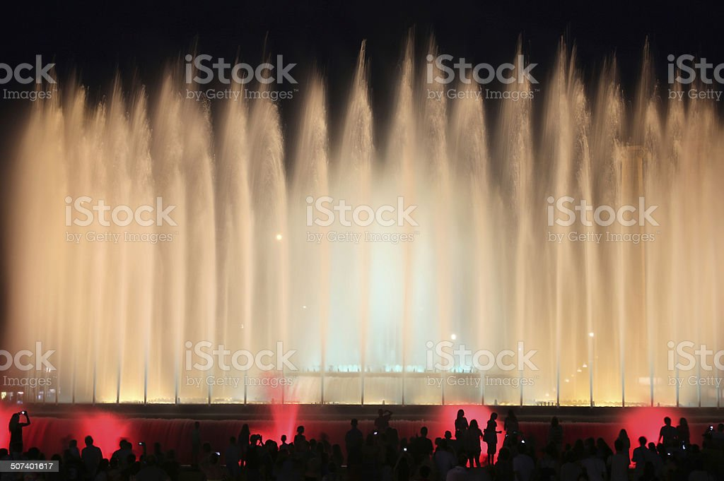 Magic Fountain of Montjuic in Barcelona stock photo