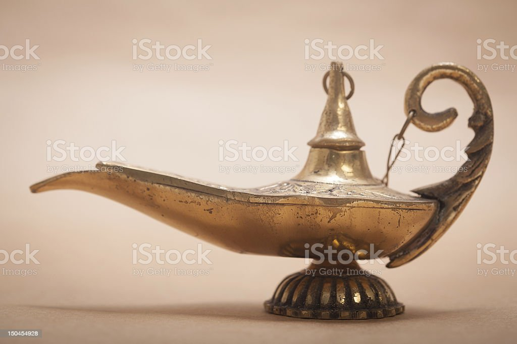 Magic Genie Lamp royalty-free stock photo