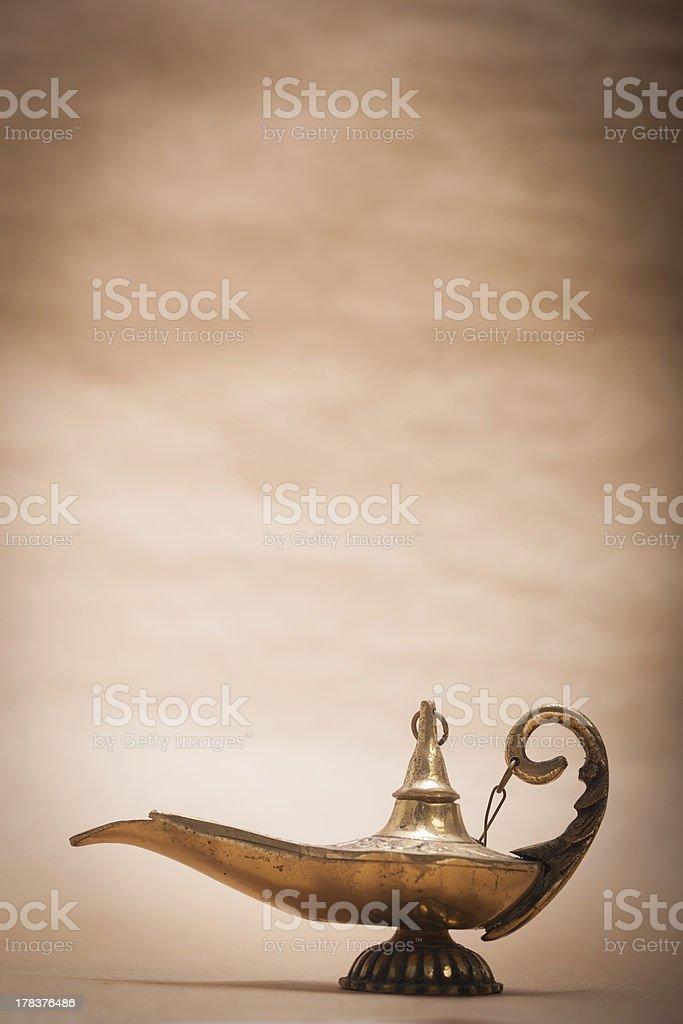 Magic Genie Lamp stock photo