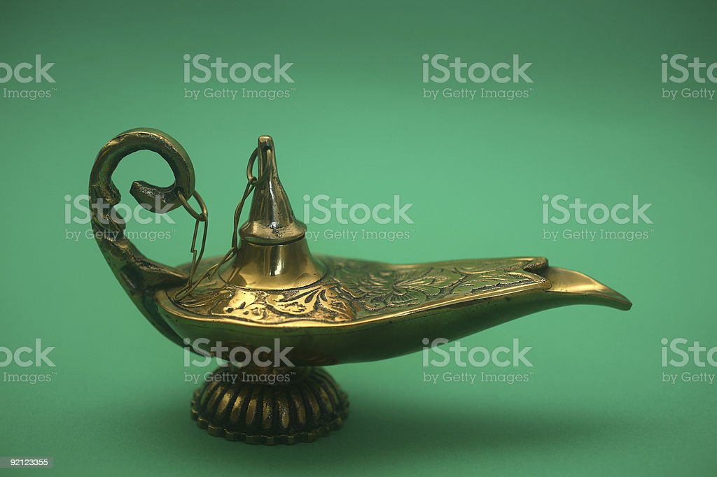 Magic Genie Lamp royalty-free stock photo