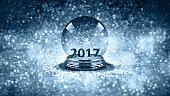 magic glass Christmas ball 2017