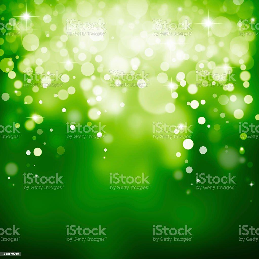 Magic green bubbles and glitters stock photo