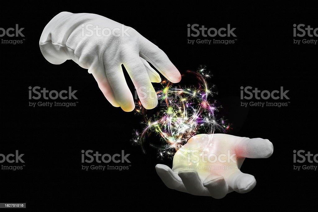 Magic Hands stock photo