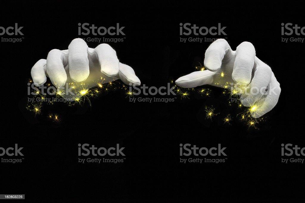 Magic Hands royalty-free stock photo