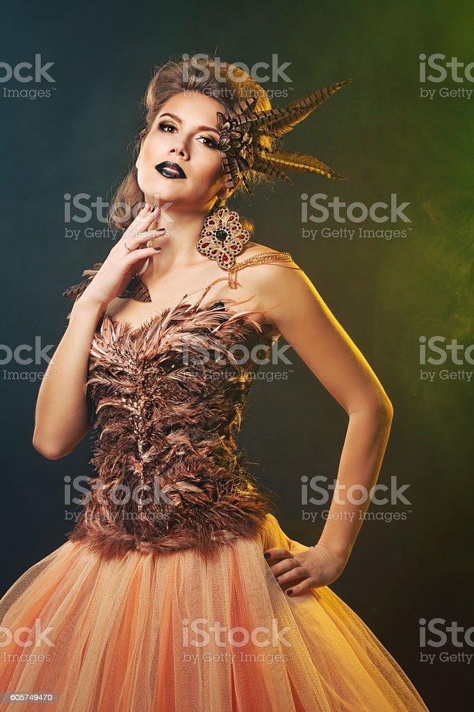 Magic Harpy. Halloween. stock photo