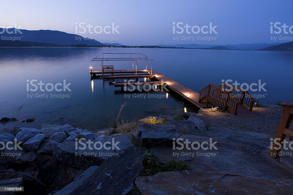 Magic hour on the Water royalty-free stock photo