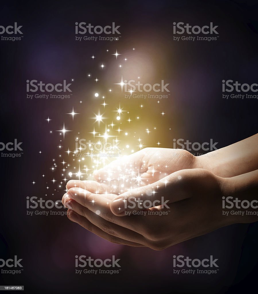 magic in your hands stock photo