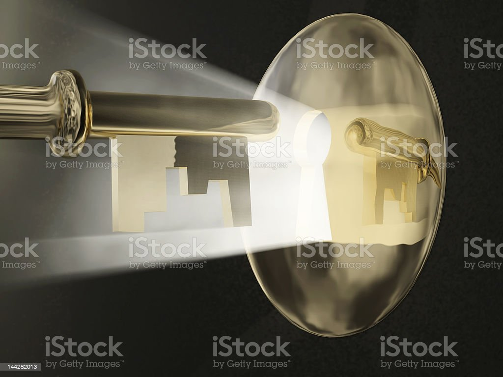 magic key stock photo
