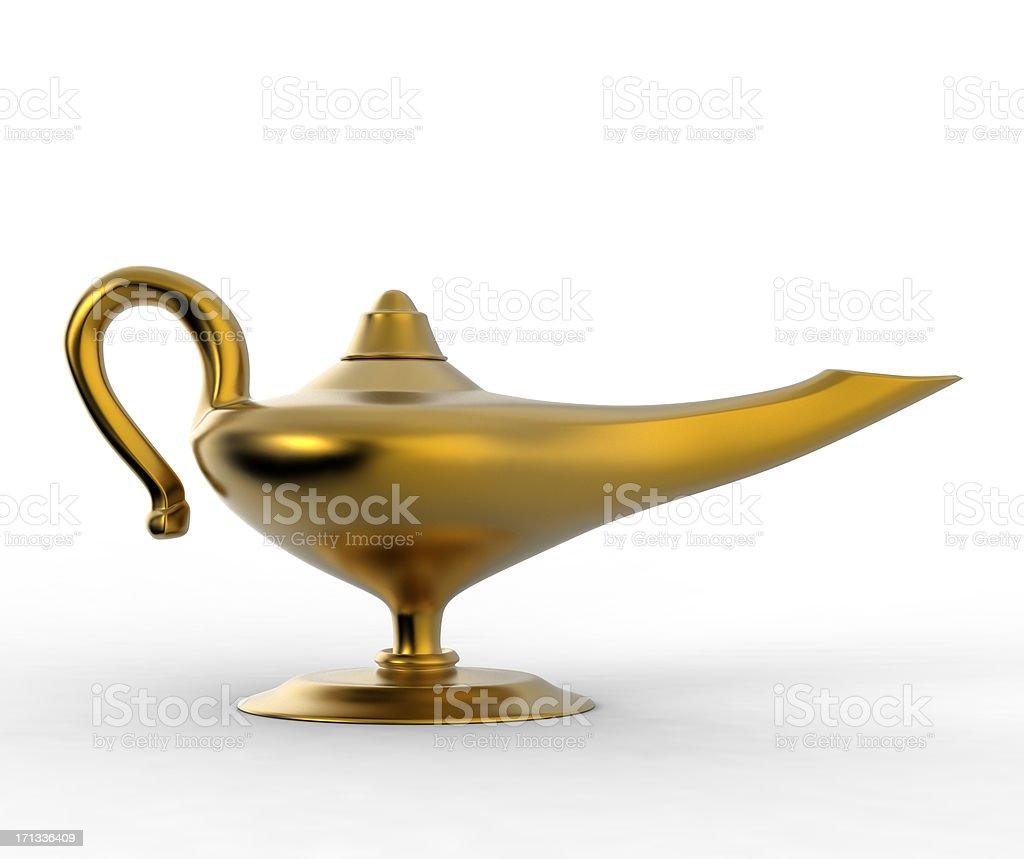 magic lamp side stock photo