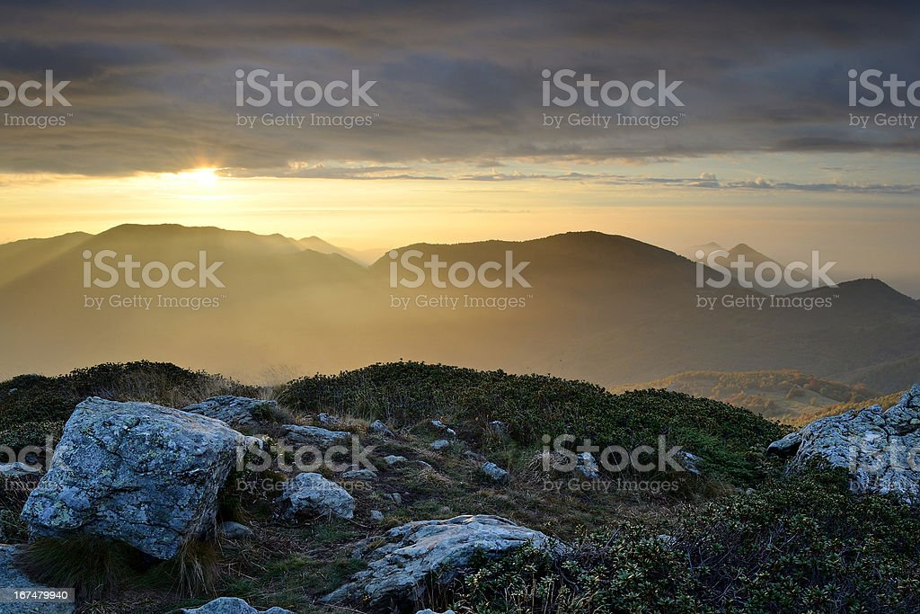 Magic light at sunrise royalty-free stock photo