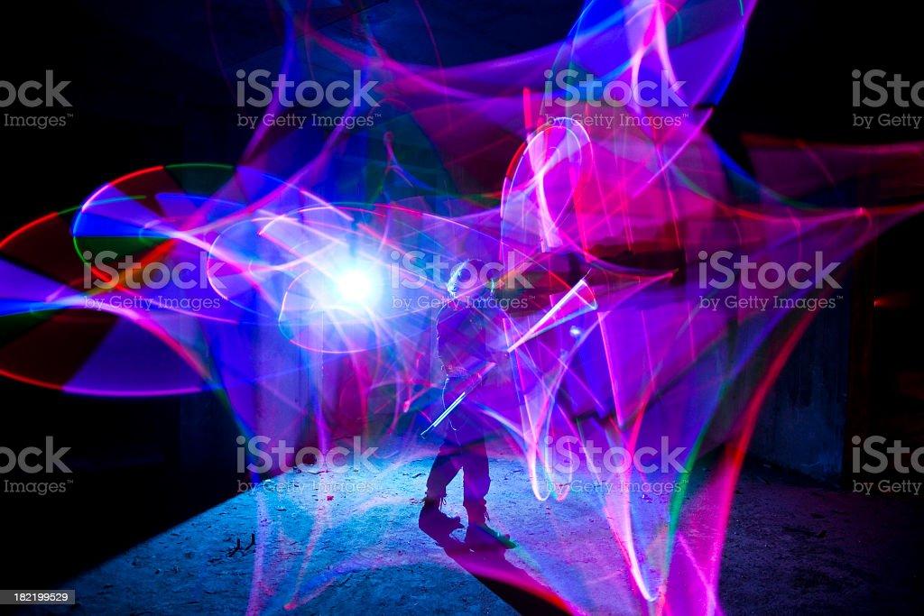 Magic light show royalty-free stock photo