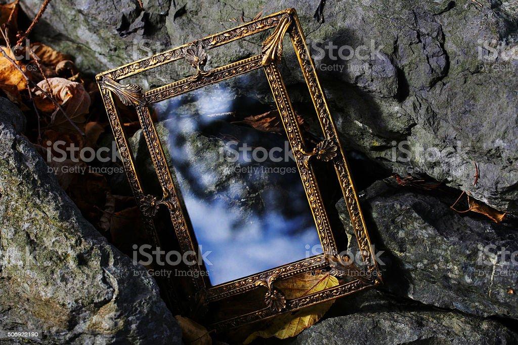 magic mirror for dreams stock photo