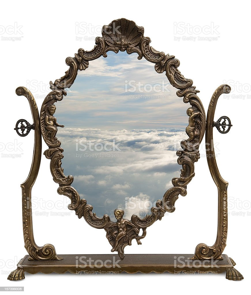 Magic Mirror with clipping path stock photo