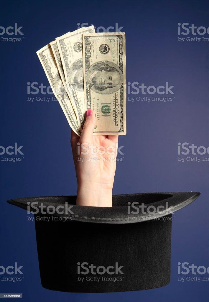 Magic Money on Blue stock photo
