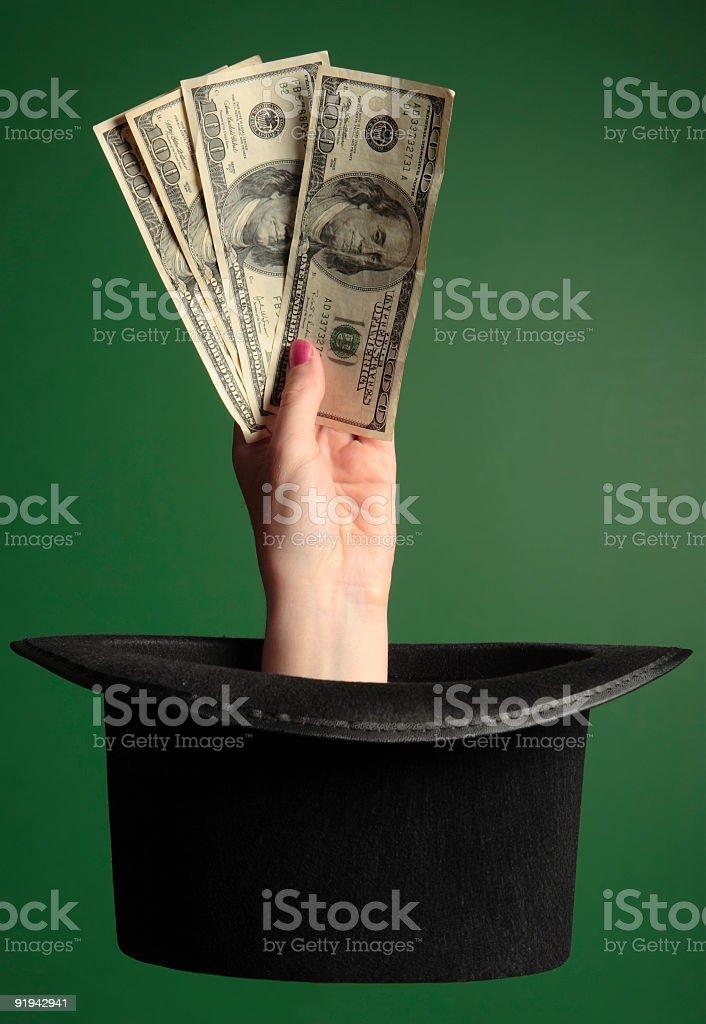 Magic Money on Green royalty-free stock photo