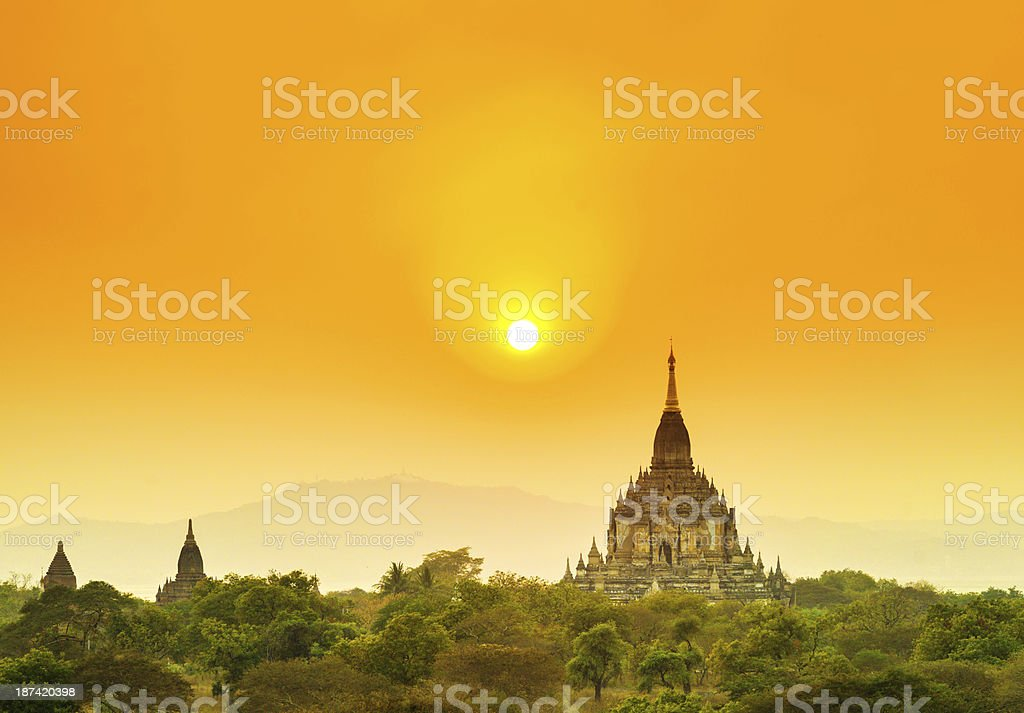 magic of Bagan, Myanmar royalty-free stock photo