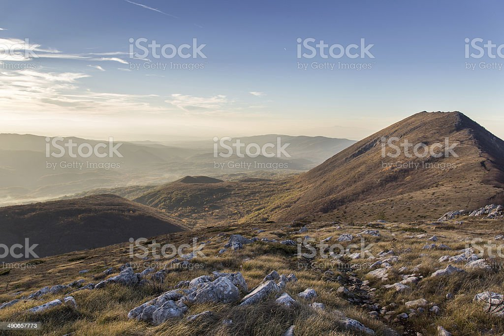 Magic of Mountain in Sunset royalty-free stock photo
