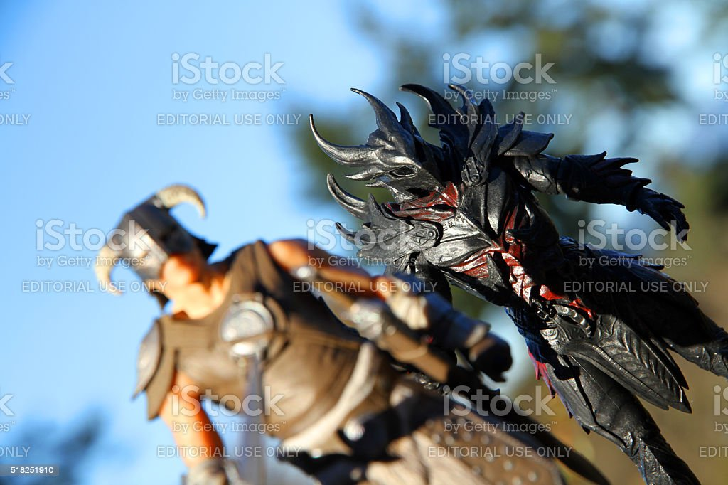 Magic of Skyrim stock photo
