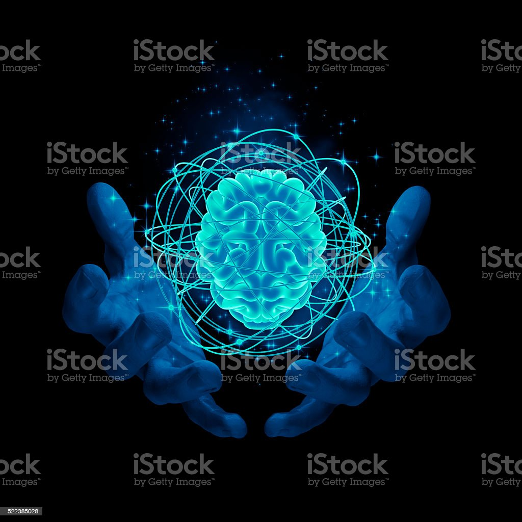 Magic on the brain stock photo