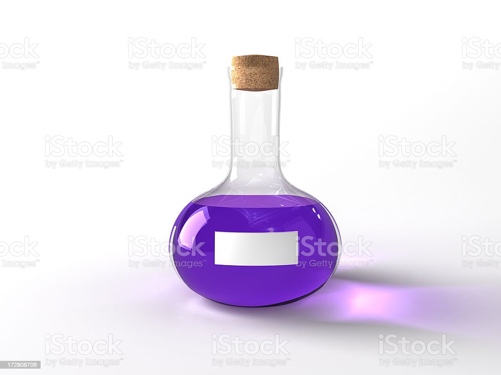 magic potion with label stock photo