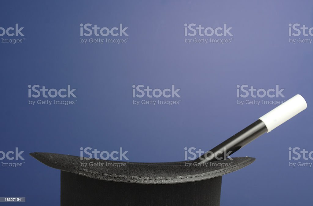 Magic Props on Blue Background with Space for Copy stock photo