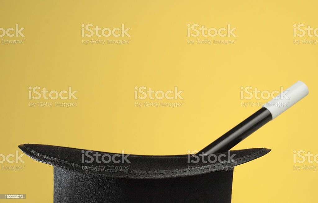 Magic Props on Yellow with Space for Copy royalty-free stock photo