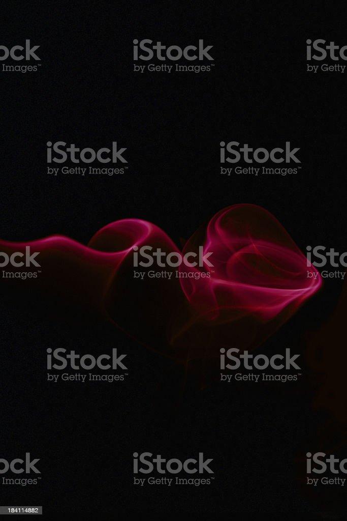 Magic red smoke stock photo