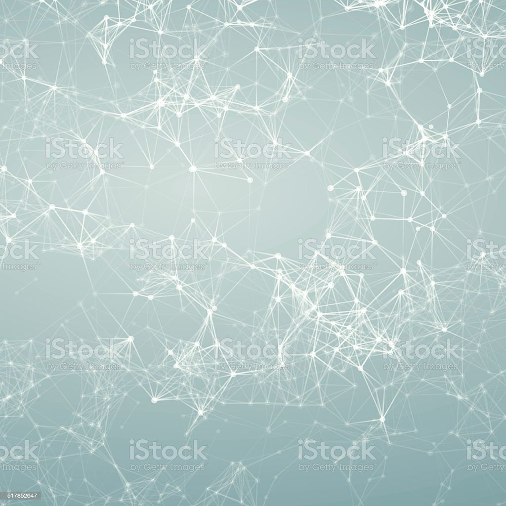 Magic silver abstract background. Connecting dots stock photo