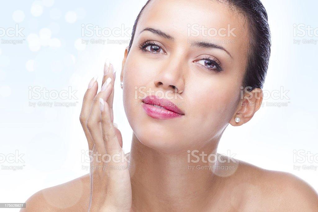 Magic skin lotion or moisturizer stock photo