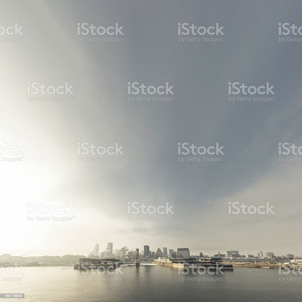 magic sky over Montreal royalty-free stock photo
