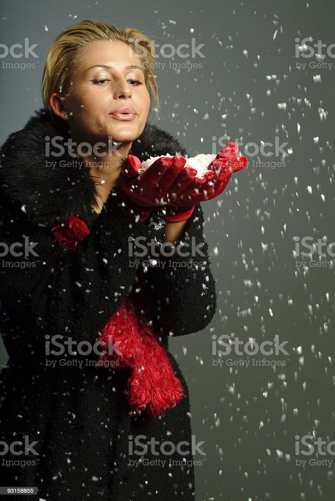 magic snow royalty-free stock photo