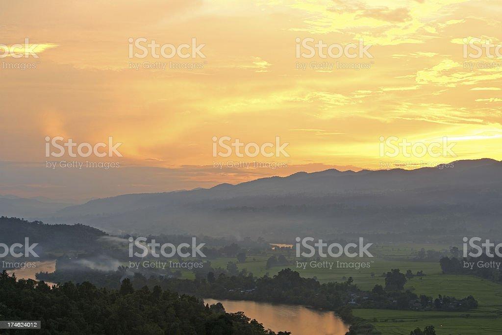 Magic sunset royalty-free stock photo