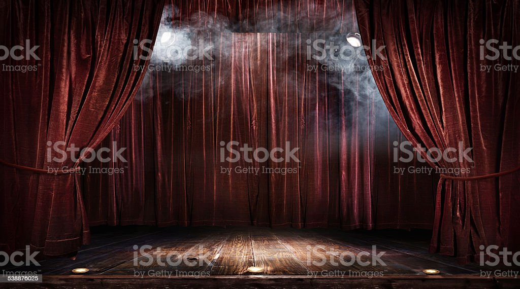 Magic theater stage stock photo