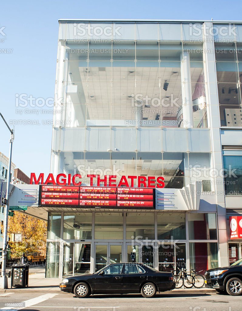 Magic Theatres in Harlem. AMC Magic Johnson Harlem 9. stock photo