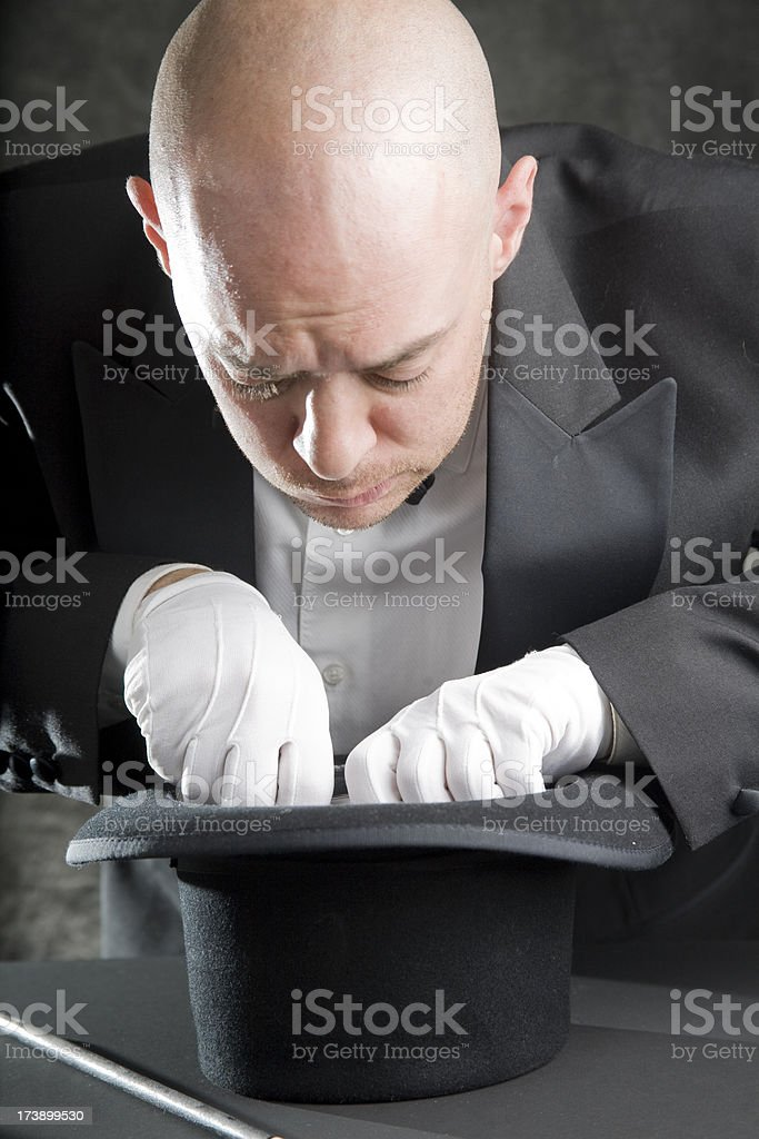 Magic Trick Gone Awry royalty-free stock photo