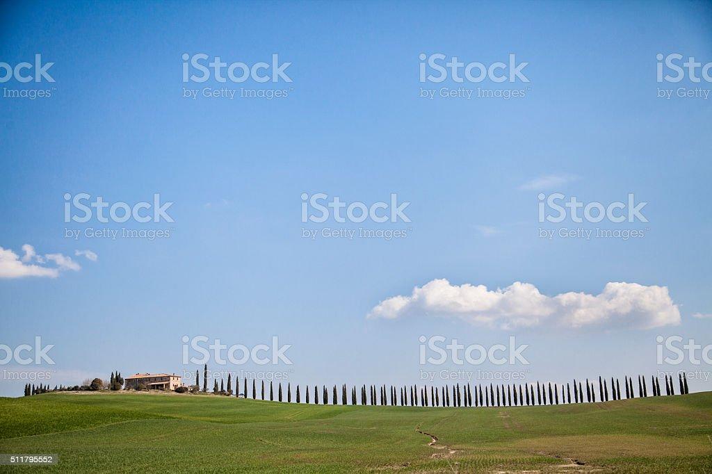 Magic Tuscany stock photo