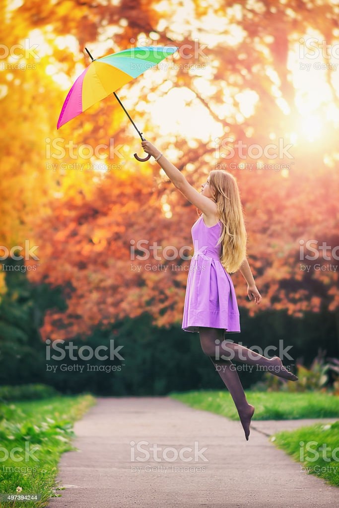 Magic umbrella stock photo