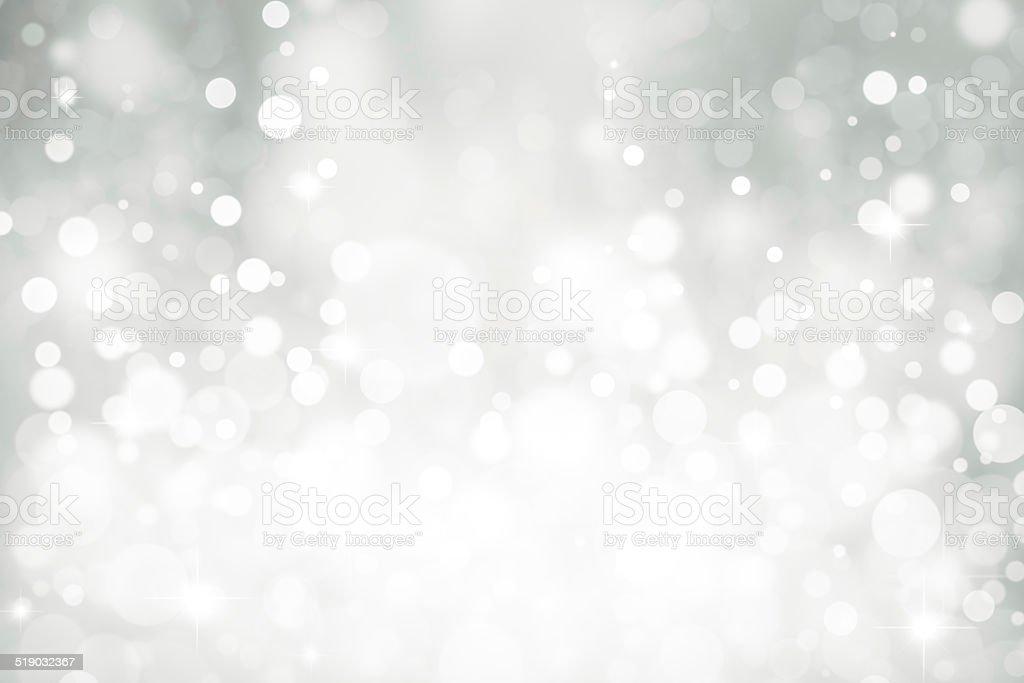 Magic white bubbles and glitters stock photo