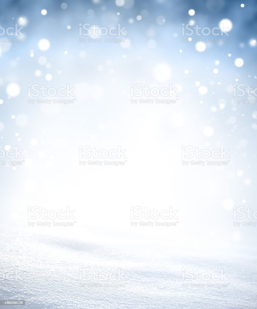 Magic winter snowstorm stock photo