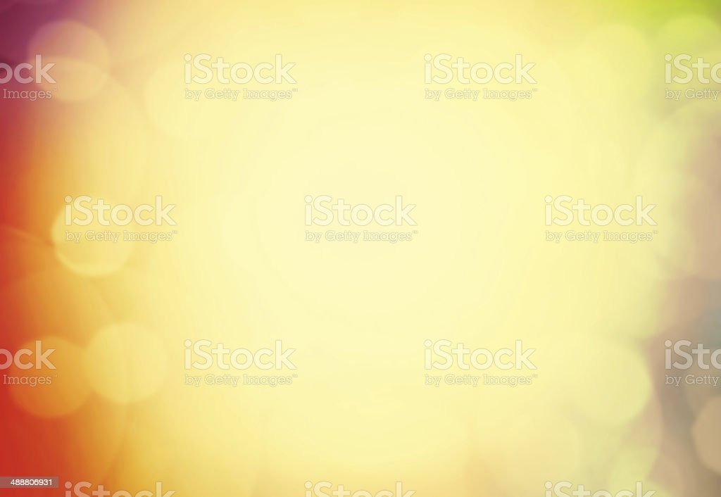 Magical background with colorful bokeh. Defocused Bokeh twinklin stock photo