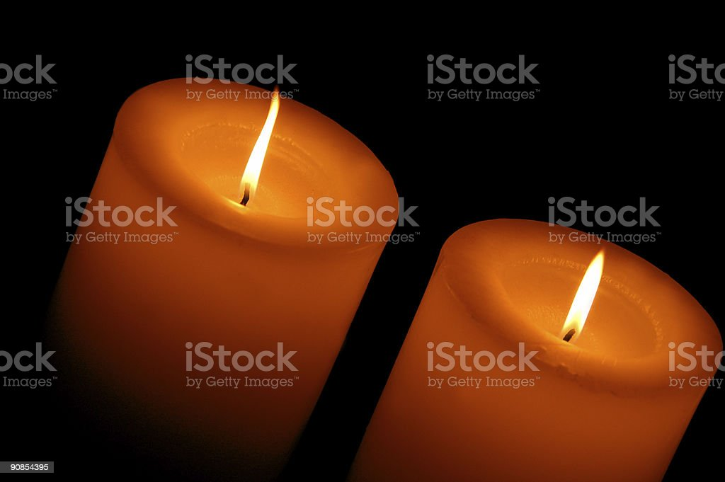 magical candles royalty-free stock photo