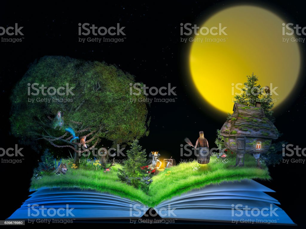 Magical children's tale stock photo